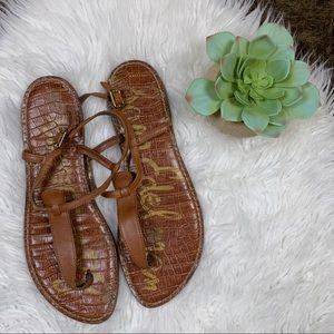 Sam Edelman Gigi Leather Thong Strap Sandal Sz 9.5